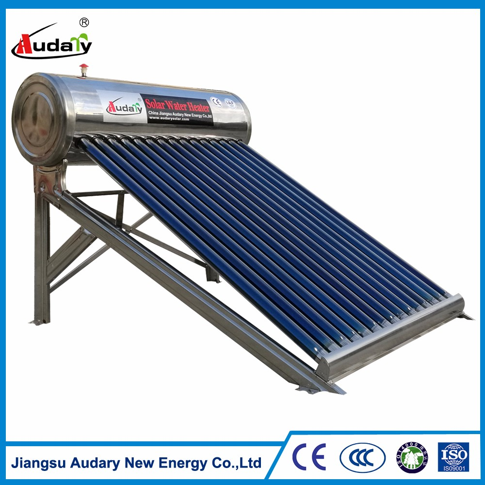 stainless steel Non-pressurized Solar Hot Water/ Solar Water Heater with assistant tank