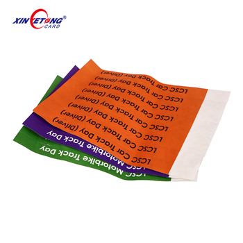 One Time Use HF UHF Paper RFID Wristbands for Event