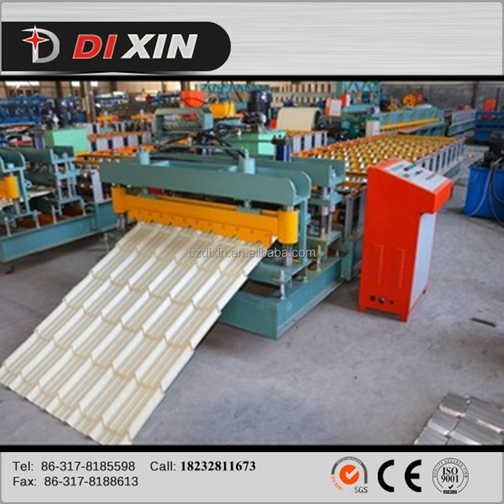 Best quality 2014 new design for color steel/PPGI/galvanized/zinc/aluminium sheet wall roof glazed tile forming making machine