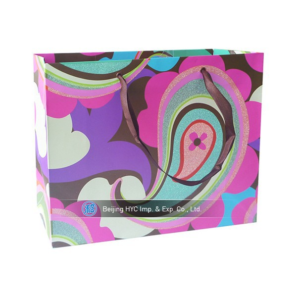 Custom Design Personalized Paper Bags with Logo contracted and luxury paper bag