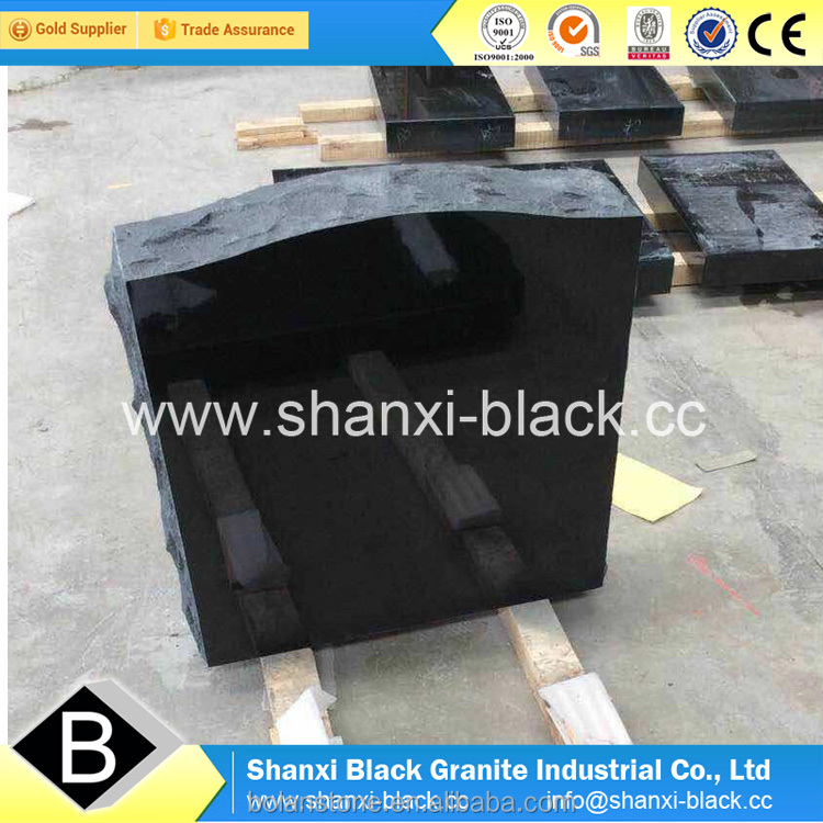 shanxi black granite monuments absolute black granite china black granite tombstone headstone gravestone for Ameria USA styles