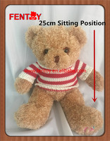 1pc for retail and whosale Online shop 25cm 10 inch soft plush Teddy Bears for Valentine's Day