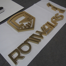 Brushed Gold Color Stainless Steel Letter Sign for Company name Letters , Room Name letter Sign