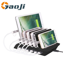 Multi Quick USB Charger Dock Station Stand 6-Ports Desktop Charging Station 2.4A/1A Power Adapter For iPhone iPad Android Phones