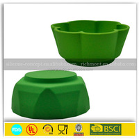 China pet bowl stainless steel silicone dog bowl
