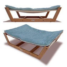 Bamboo pet Hammock bed with soft mat