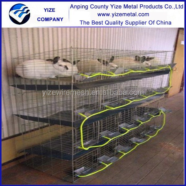 Hot sale 9 nest 3 layer male rabbit cage /outdoor rabbit hutch