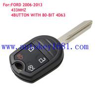 Car Key For Ford Mustang boss shellby Edge Remote key 4Button315MHZ 433MHZ FCCID:CWTWB1U793
