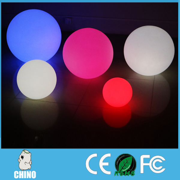 Hotel use 16 colors changing led Glow swimming pool balls