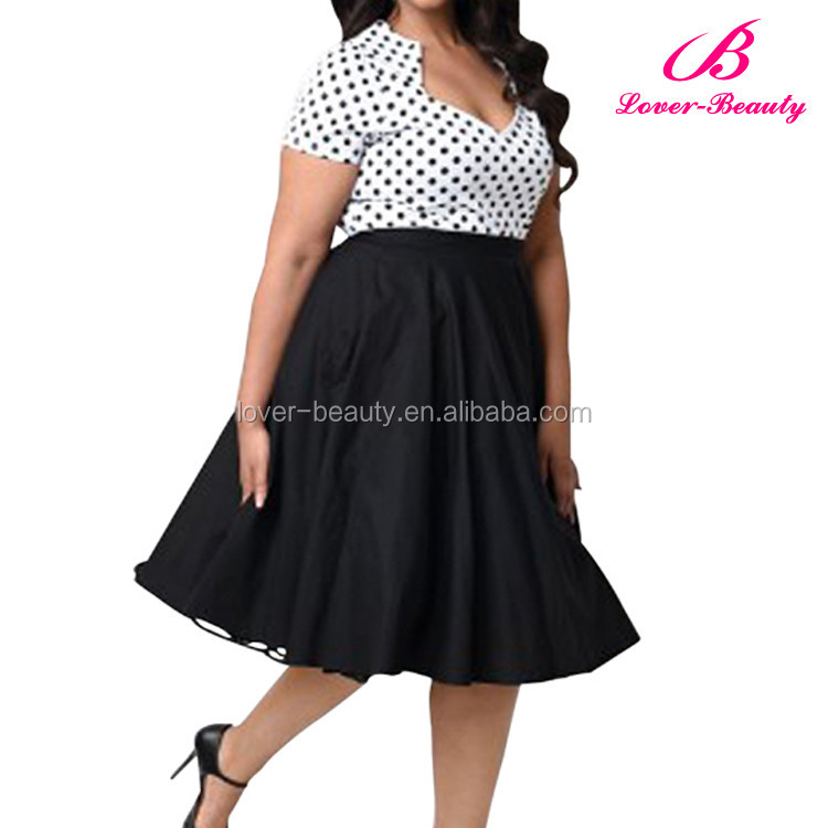 Latest Design Women Fashion Plus Size Sexy Dresses XXL