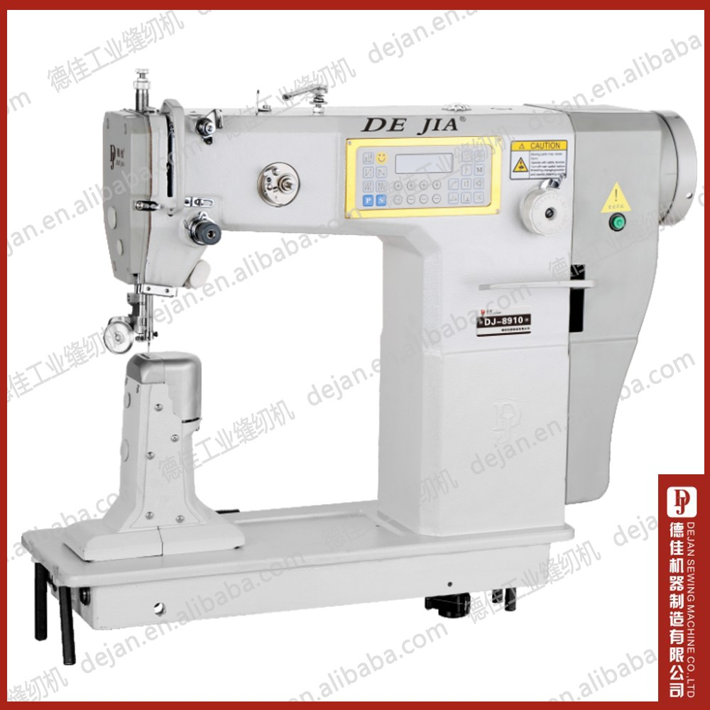 post bed automatic sewing machine DJ-8910 Post Bed Leather Needle Sewing Machine Computer Control Automatic End Trimming