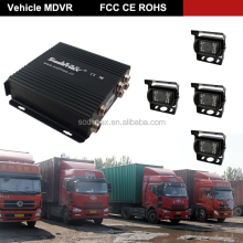 MDVR 4 Channel 3G/4G Wi-Fi GPS double sd card car dvr 720p HD mobil dvr for trailer and other Heavy vehicles