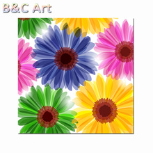 Beautiful Bright Colorful Wall Picture Decoration Sun Flower Picture