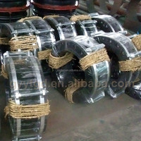 Flange type corrugated rubber expansion joints concrete