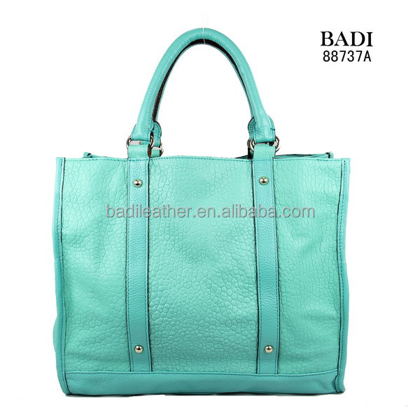 light blue bubble leather bag for ladies