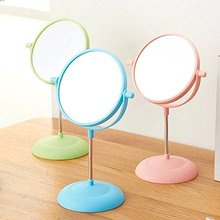 Makeup Vanity Mirror - Two-Sided 2x Magnifying Swivel Stand Up Natural Daylight