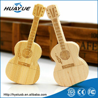 Novelty products for sell musical instrument usb flash drive wood guitar shape usb stick oem usb pen drive