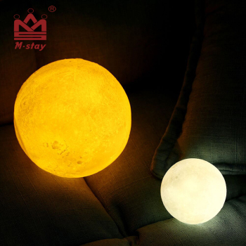 Hot selling 3D printed LED colorful lunar moon lamp light gift