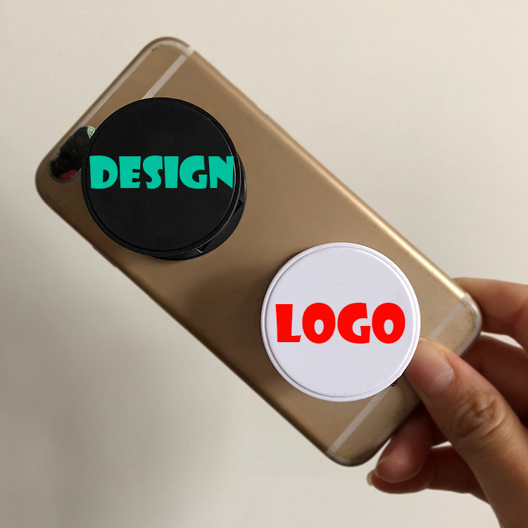 Free custom logo foldable phone stand folding mobile phone holder for promotion
