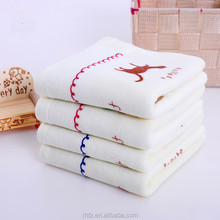 best gift for little baby 100% cotton printed velvet towel and fastness