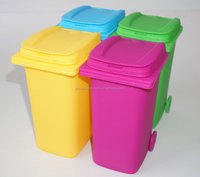 mini wheelie bin, children toy wheelie bin, mini desktop bin
