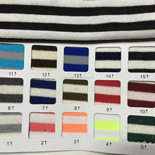 Polyester cotton pique knit fabric,yarn dyed stripe polo pique fabric,cotton pique fabric
