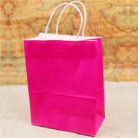 Decent quality twisted cord handles white kraft paper bags