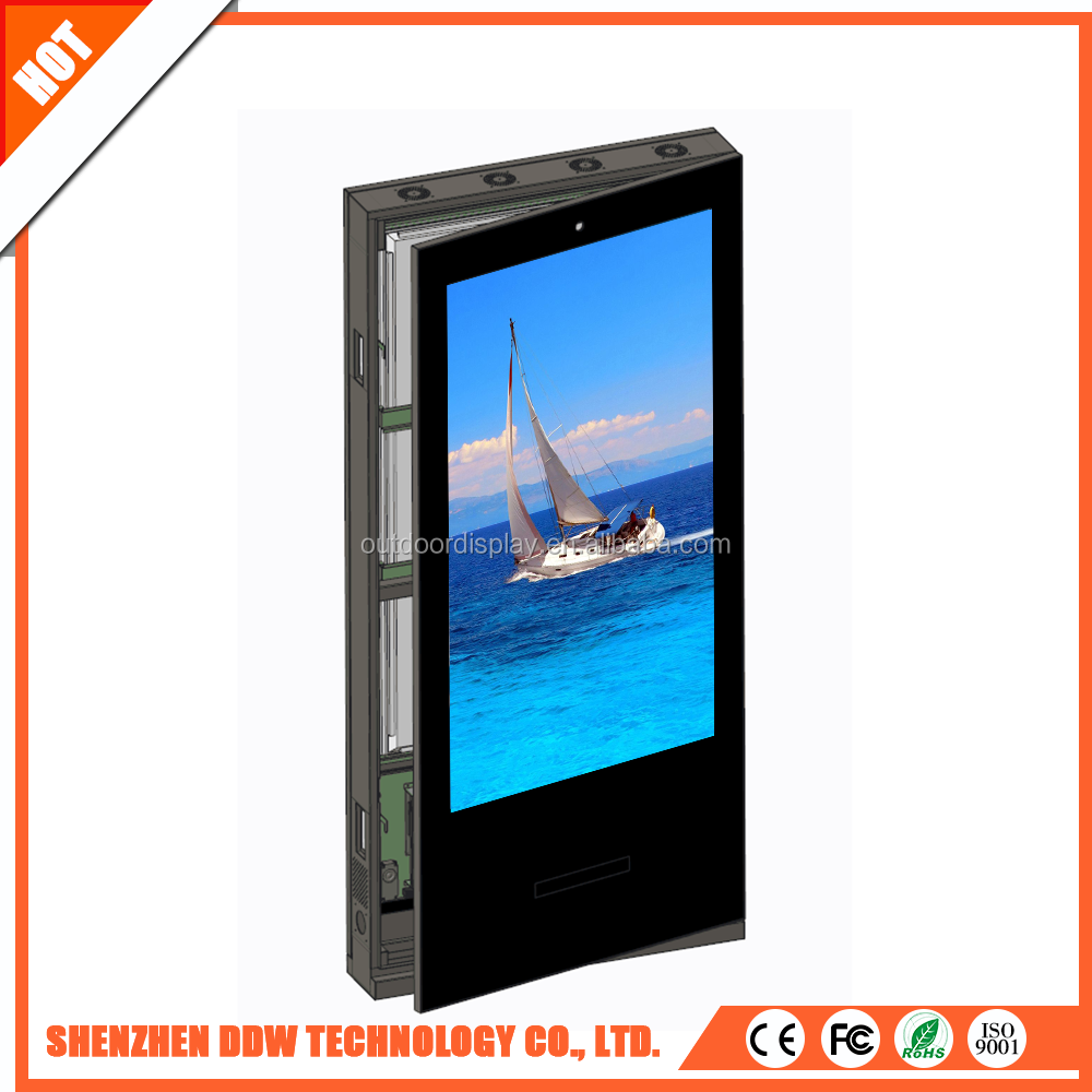 55 inch floor standing double sided vertical lcd advertising tv display