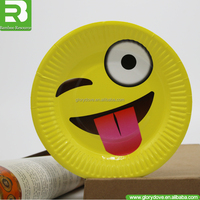 2017 Promotional disposable yellow paper plates