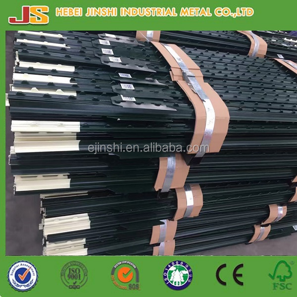 Factory and expoter green t fence post for sale