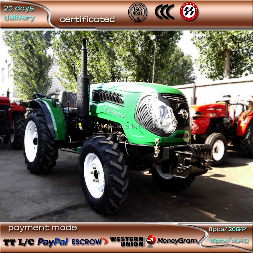 small tractor FN454C, 45hp,4000X1500X1900mm, wheel tread 1220mm, 8.30-20/12.4-28 tyre, 2 hydraulic valves, power steering
