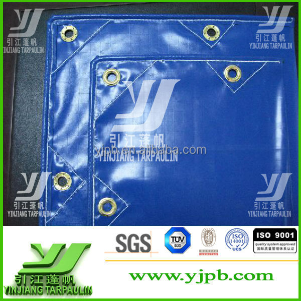Tear-Resistant 1000d pvc coated tarpaulin finished size sheet
