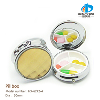 HX-6272-4 Wholesale Japanese Cute Round Pill Box China Factory