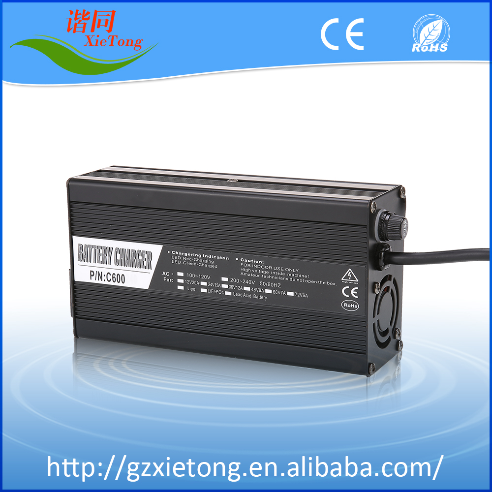 Top sales 12V Lead Acid / LiFePO4 /Li-ion car Battery Charger with Alloy Shell