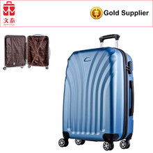 self-weighing scale smart lock colourful travel trolley luggage bag