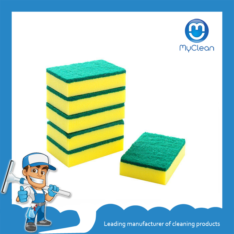 yellow green Factory Direct Sale Kitchen Cleaning Sponge