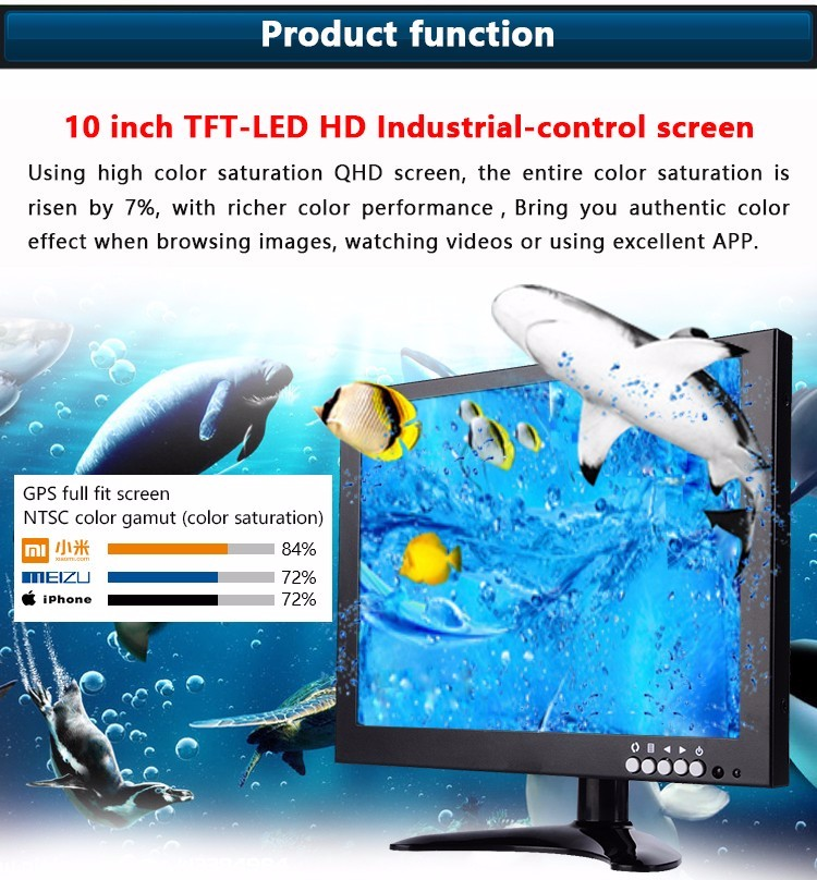 "10.1""10.4"" 12.1"" inch portable CCTV LCD Monitor"