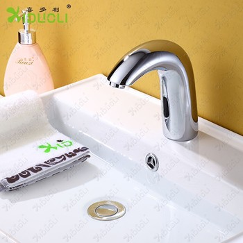 Bathroom Sink Auto faucet or tap brass material chrome finish tap for hot and cold water