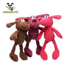 Plush Corduroy Durable Cow Dog Toy Bite Squeaky Soft Toy for Puppy
