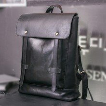 High-end Stylish Men Satchel Pu Leather Messenger Backpack Bag for School Travel Business