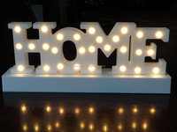 plastic letter HOME christmas light holiday light led light