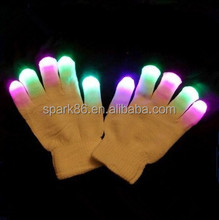 China promotion party rave led finger glove led glowing gloves