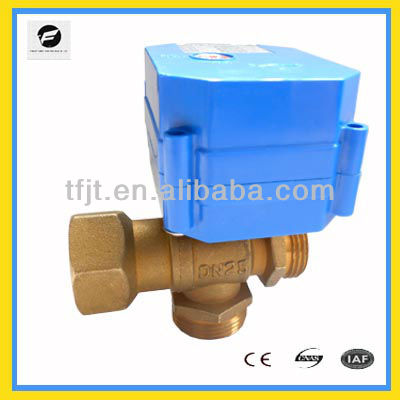 3way motorized ball valve for waterworking project,Domestic/potable water,Irrigation system