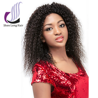 Malaysian Human Hair Type and Hair Weaving Hair Extension Type Kinky Curly Lace Front Wigs