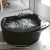 HS-EB007 bathtub black/ acrylic bath whirlpool/ led massage bathtub
