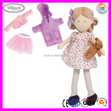 A770 Dressing Room Girl Rag Doll Plush Soft Toy Clothes Display Doll
