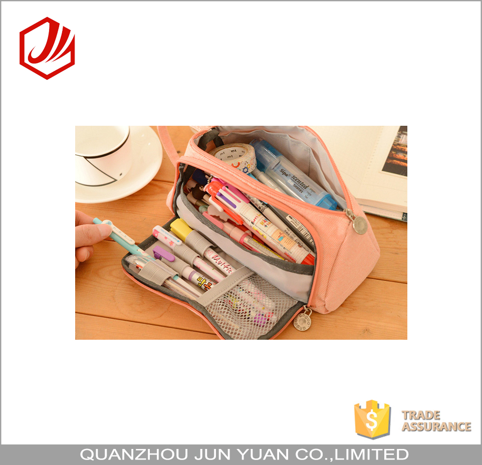 Wholesale china manufacture large space custom cool pencil case for teenagers