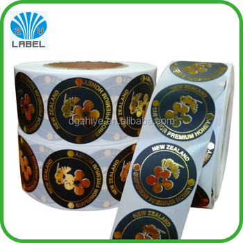 100% direct manufacture customized waterproof small round stickers
