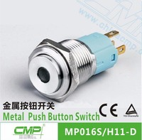16mm metal led light illuminated pushbutton switches on off switch