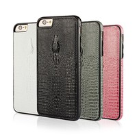 Luxury crocodile leather back cover soft TPU phone case for iphone 6s , for apple iphone 6s covers